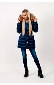 Mayo Chix - CARDONA - steppelt téli kabát, HÁTÁN HÍMZETT