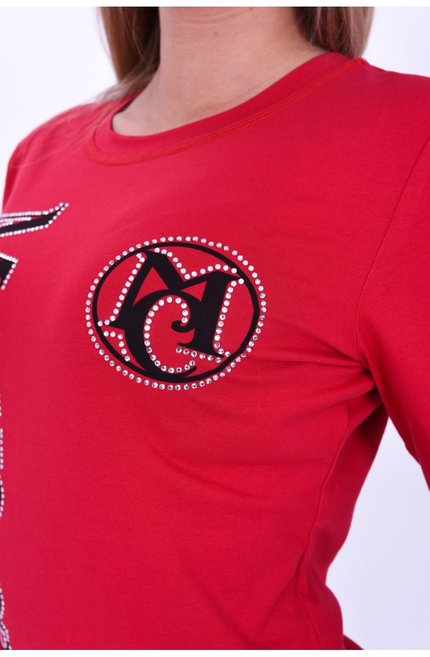 Mayo Chix - BLOG - hosszú ujjú basic felső, NAGY FELIRATTAL, piros