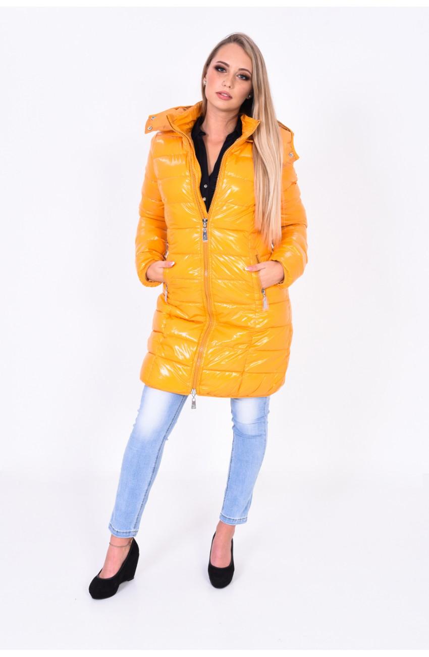 Mayo Chix - LILLA - steppelt kapucnis kabát, HÁTÁN HÍMZETT
