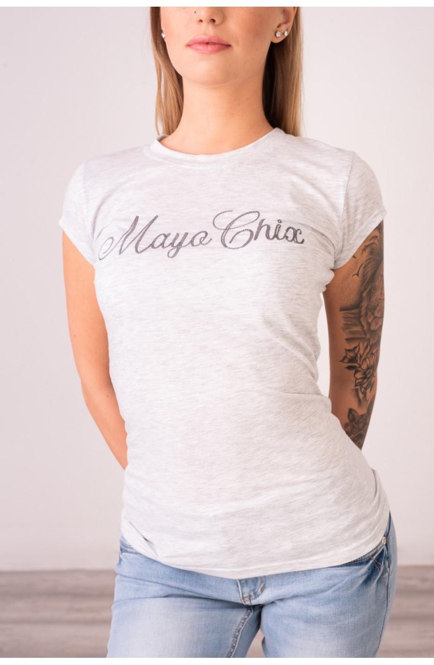 Mayo Chix - LIGHT - rövid ujjú basic felső - HÍMZETT