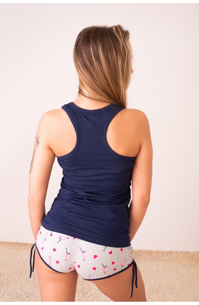 Poppy - FREAKY - Flamingó - trikószett, pizsama