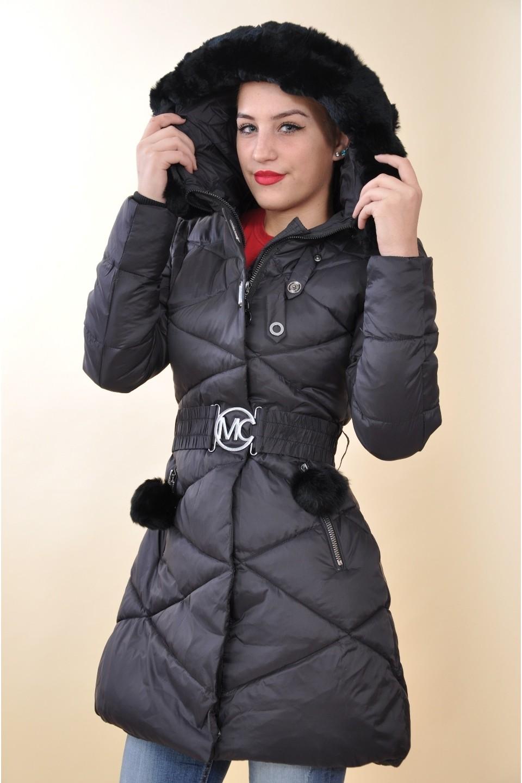a3c66fa65c Mayo Chix - NARNIA - kapucnis téli kabát, EREDETI SZŐRMÉVEL