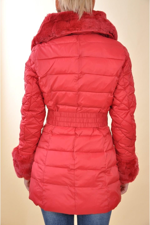 27195f3305 Mayo Chix - GAIA - steppelt téli kabát, EREDETI SZŐRMÉVEL